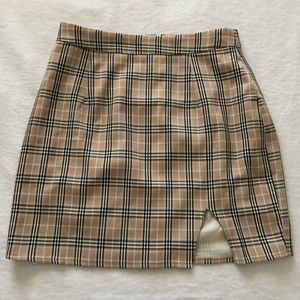 Showpo plaid skirt